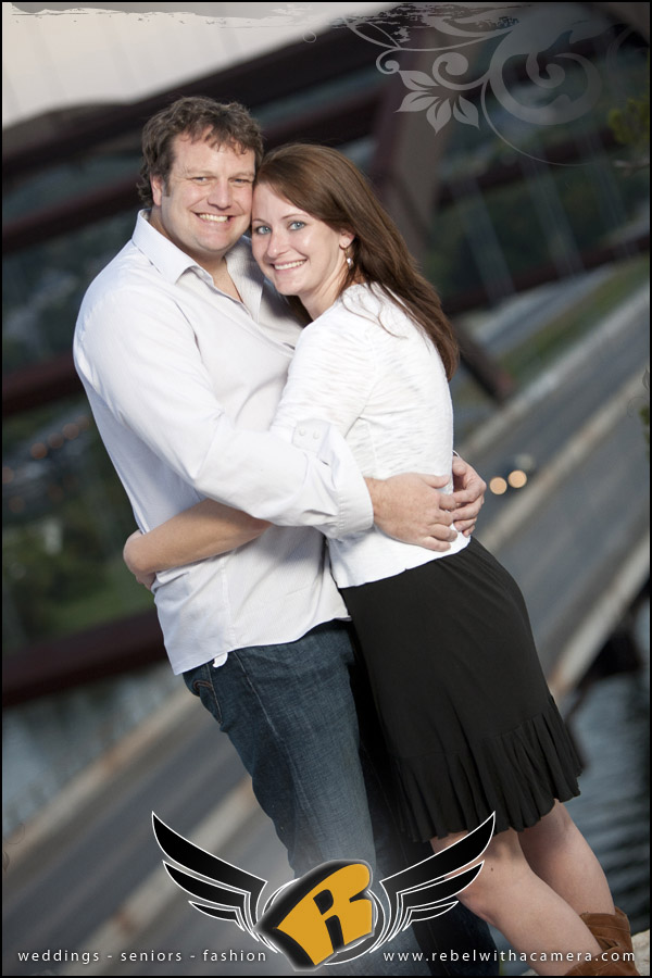 fun engagement images at the long center in austin, tx